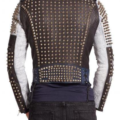 Made To Order Men's Gold Studded Mu..
