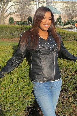 New Women's Handmade Item Studded Black Vintage Leather Jacket