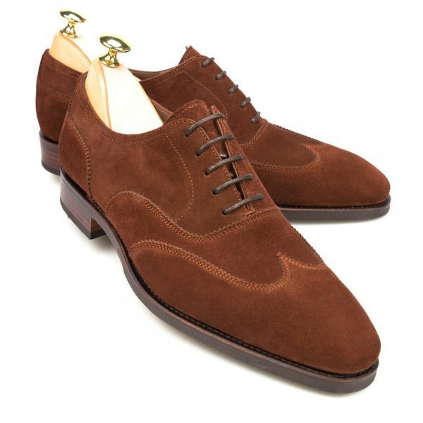 Brown Oxford Wing Tip Plain Rounded Toe Stylish Leather Lace up Formal Dress Men Shoes