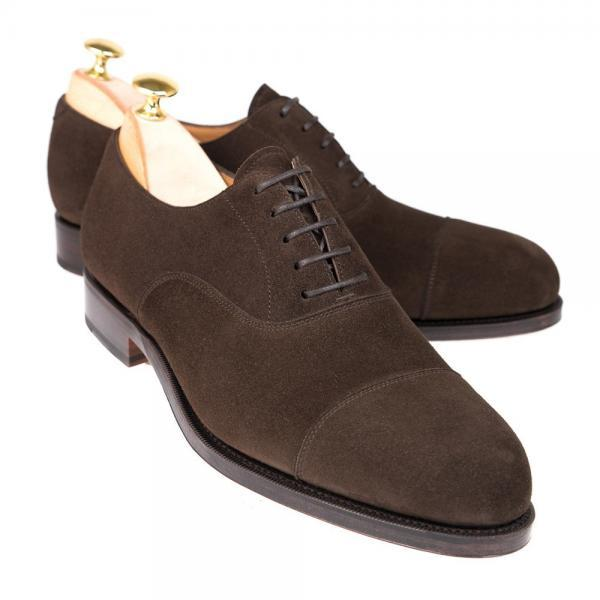 Coffee Brown Oxford Rounded Plain Cap Toe Stylish Leather Lace up Formal Dress Men Shoes